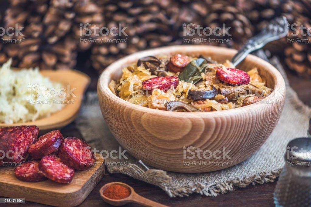 Cabbage Soup Kapustnica stock photo