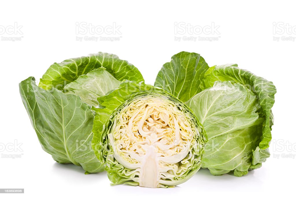 Cabbages composition stock photo