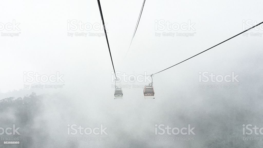 Cabble Car and Cloud stock photo