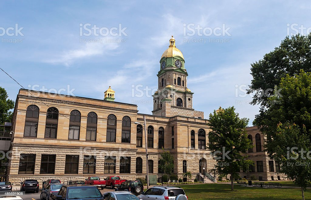 Cabell County Courthouse In Huntington, West Virginia stock photo