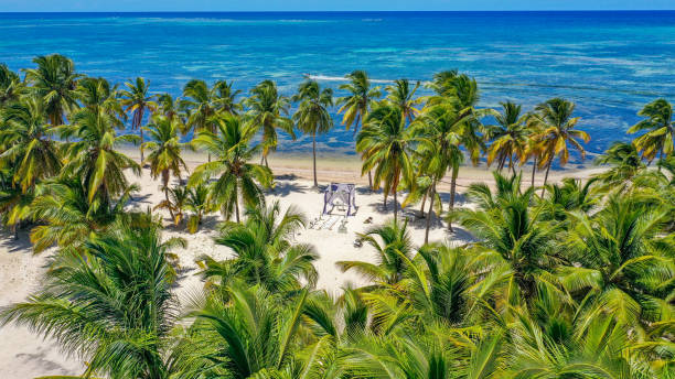 Cabeza de Toro beach, Punta Cana, Dominican Republic. A place for a beautiful wedding stock photo