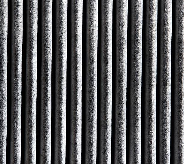 Cabin air filter carbon stock photo