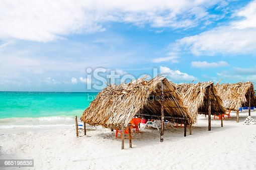 istock Cabin at the beach by Baru in Colombia next to Cartagena 665198836