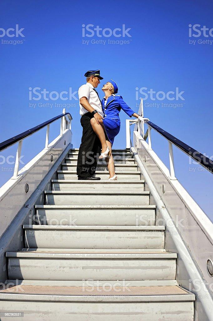 Cabina doppia coppia foto stock royalty-free