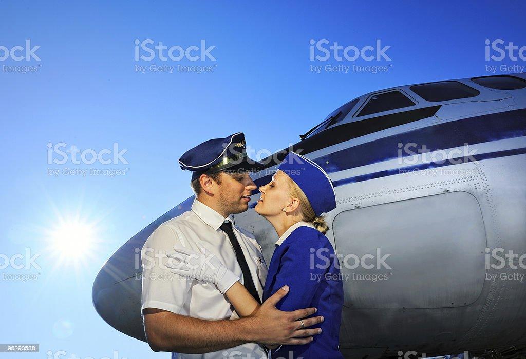 Cabin crew couple royalty-free stock photo