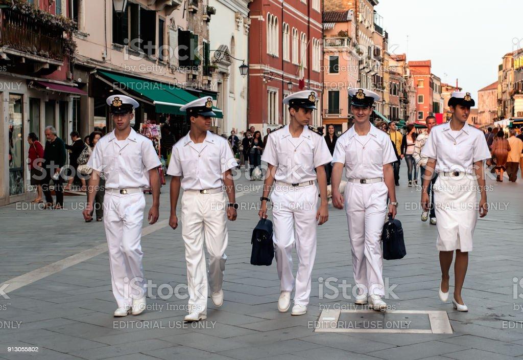 Cabin Crew, Venice stock photo