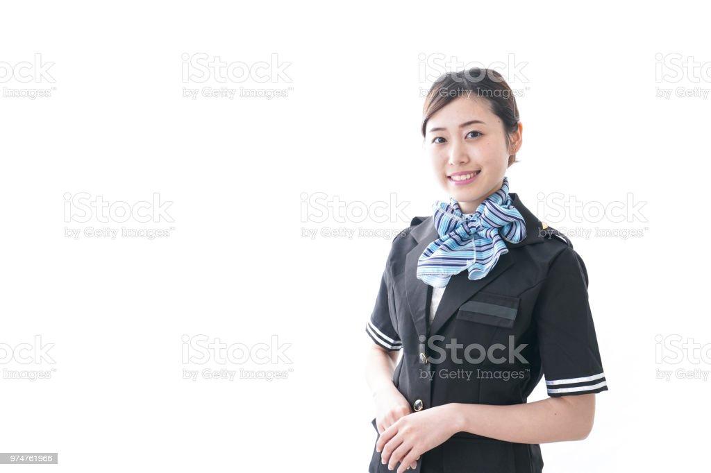 Flugbegleiter mit Lächeln – Foto