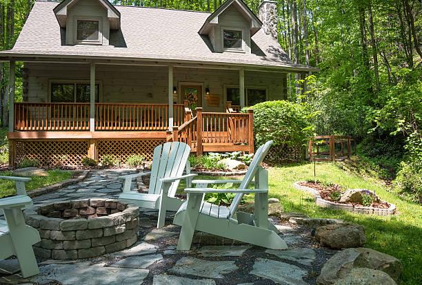 Cabin in North Carolina stock photo