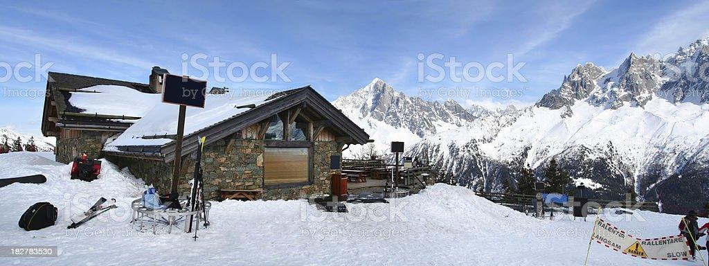 cabin in ski resort royalty-free stock photo