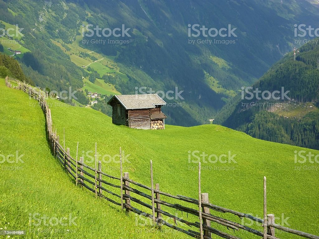 Cabin in the Alps royalty-free stock photo