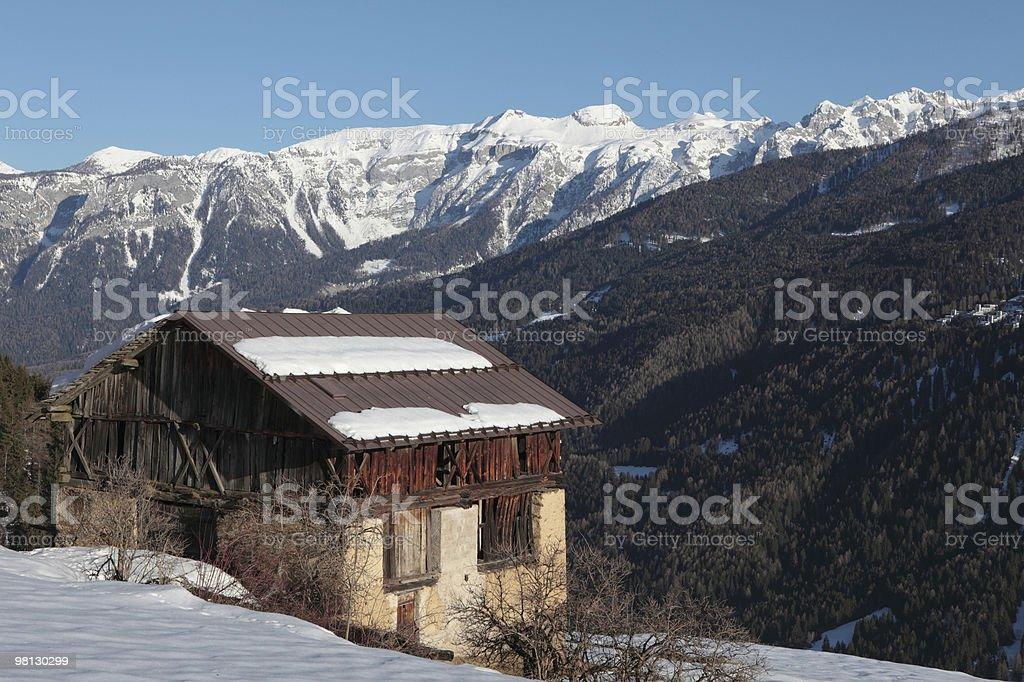 Cabina nelle Alpi, Trentino foto stock royalty-free