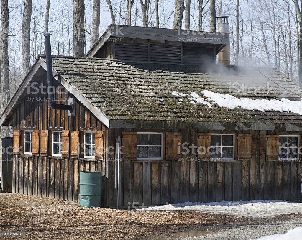 Cabin in the Maple Bush royalty-free stock photo