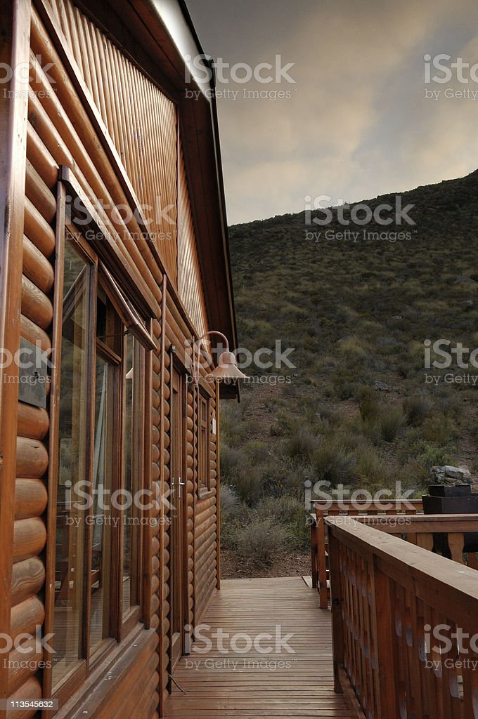 Cabin in the mountains royalty-free stock photo