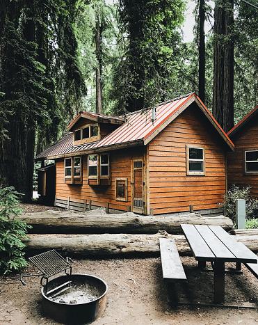 cabin in the pacific northwest - california