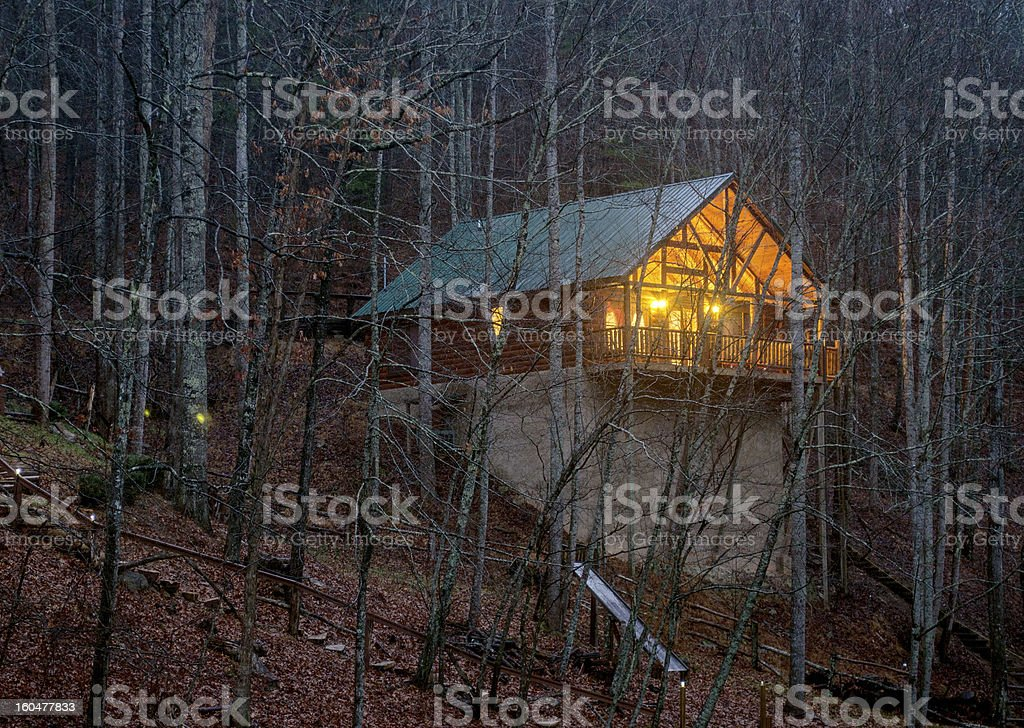 Cabin in the Shadows royalty-free stock photo
