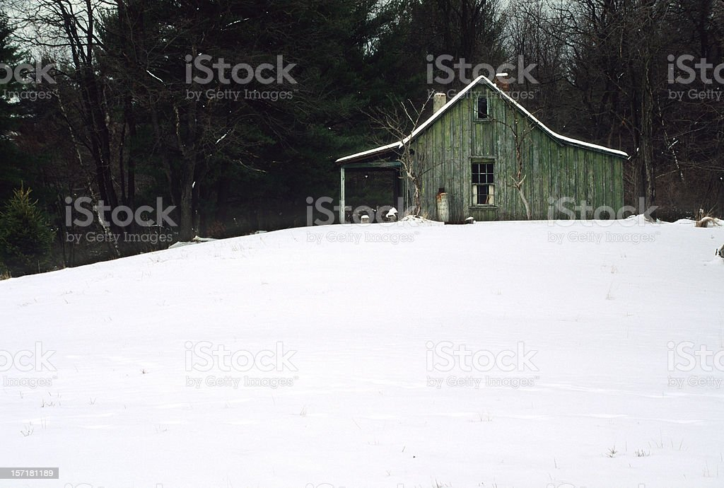 Cabin in Winter royalty-free stock photo