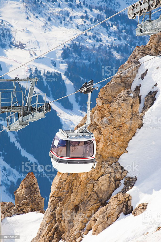 Cabin lift in France stock photo