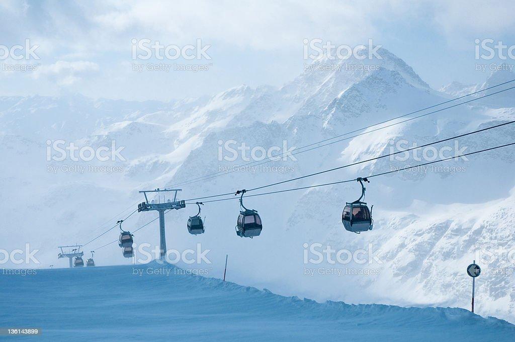 cabin lift stock photo
