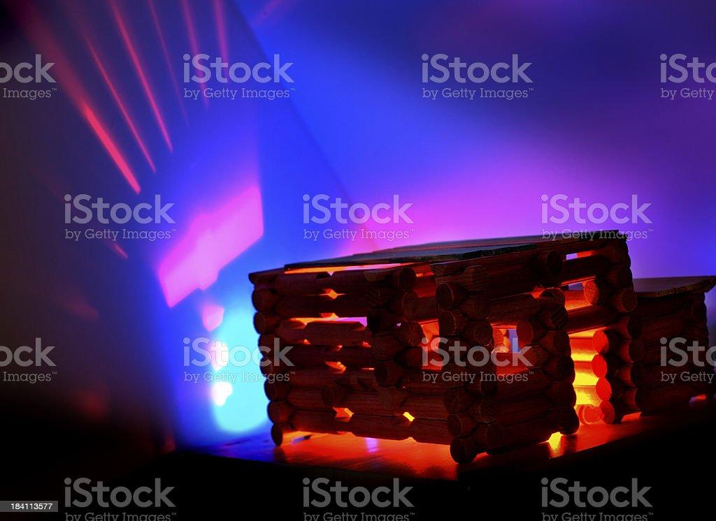 Cabin Lights stock photo
