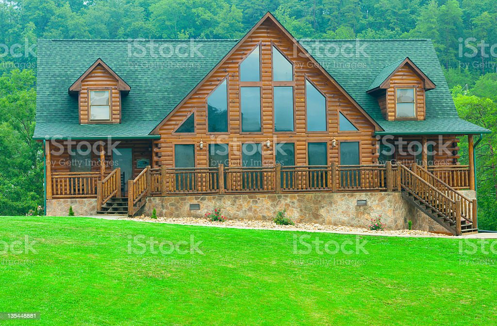 Cabin on the hill royalty-free stock photo