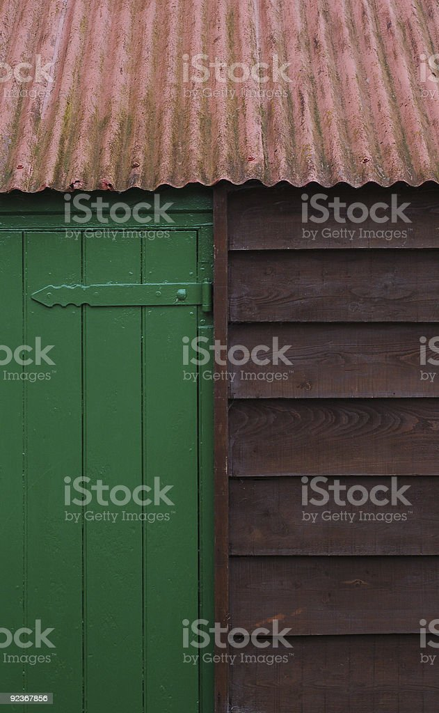 Cabin Tricolor, Abstract Background, Roof / Hinge / Door / Cladding royalty-free stock photo