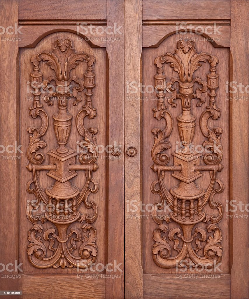 Cabinet Doors stock photo