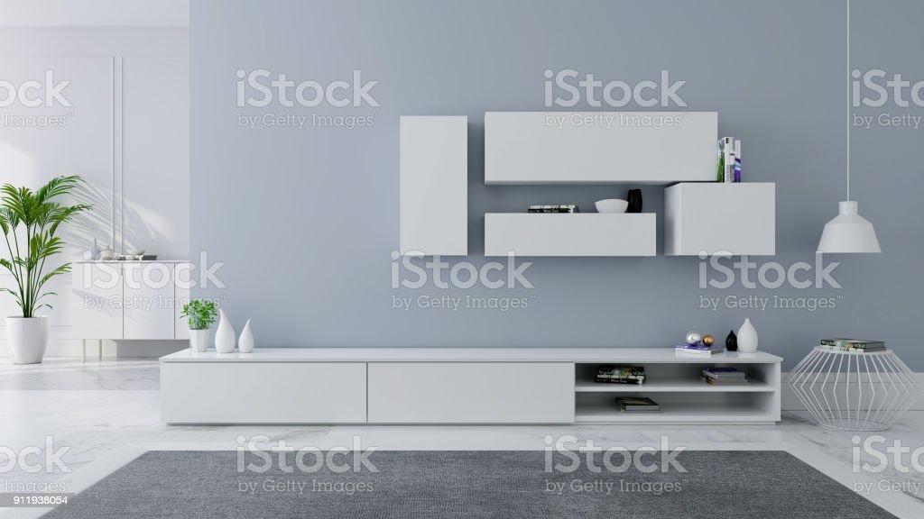 Tv Kast Muur.Tv Kast Interieur Modern En Gezellig Idee Wit Dressoir Op Grijze