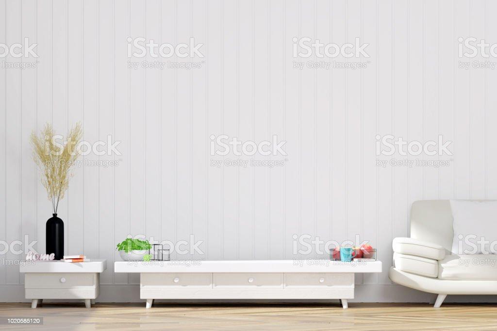 Tv Schrank Wohnzimmer Für Mockup 3d Rendering Stockfoto und mehr ...