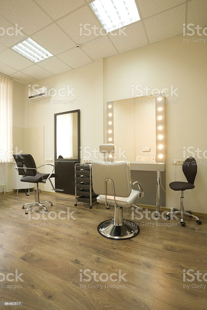 Cabinet make-up artist and hairdresser royalty-free stock photo