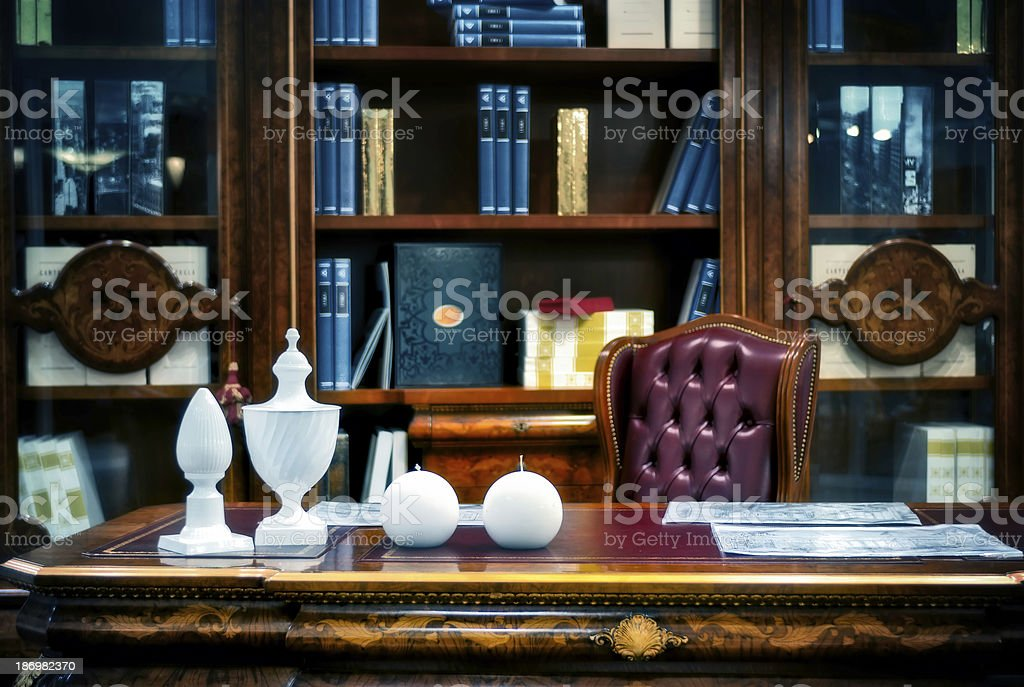 Cabinet, the place of work. stock photo