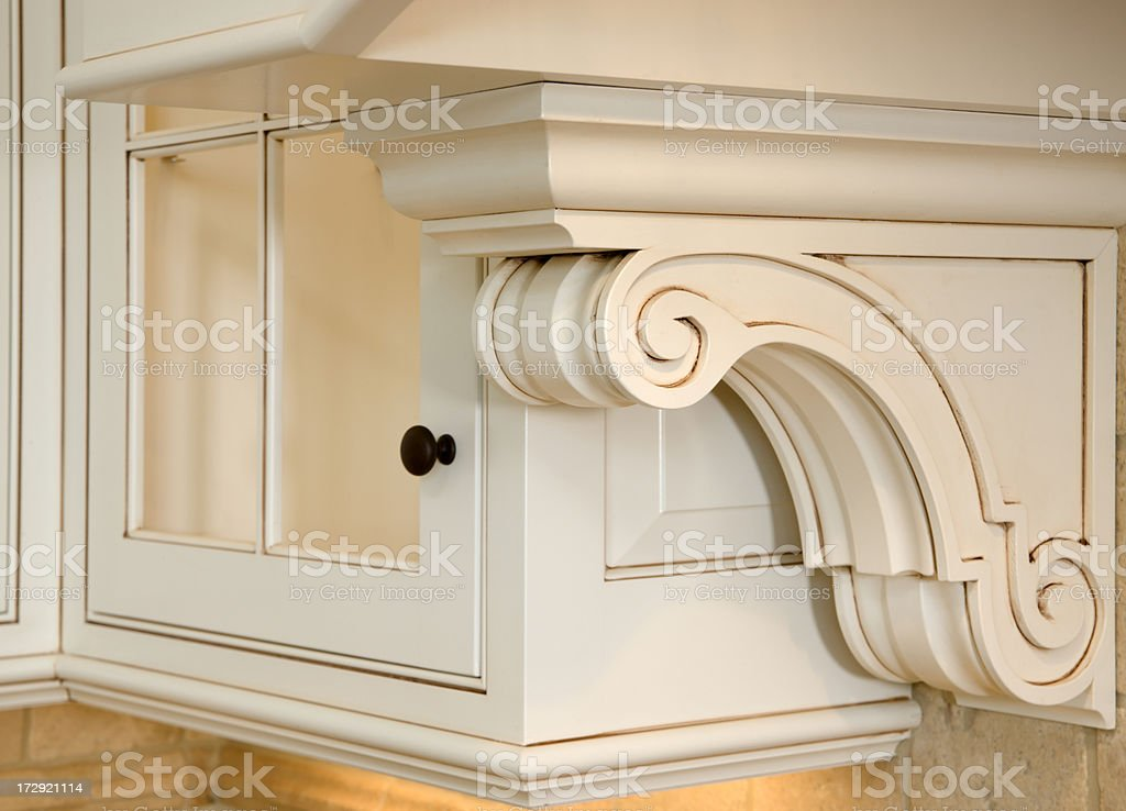 Cabinetry Detail. stock photo