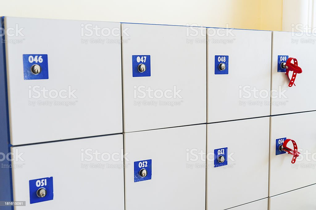 Cabinets with locks. royalty-free stock photo
