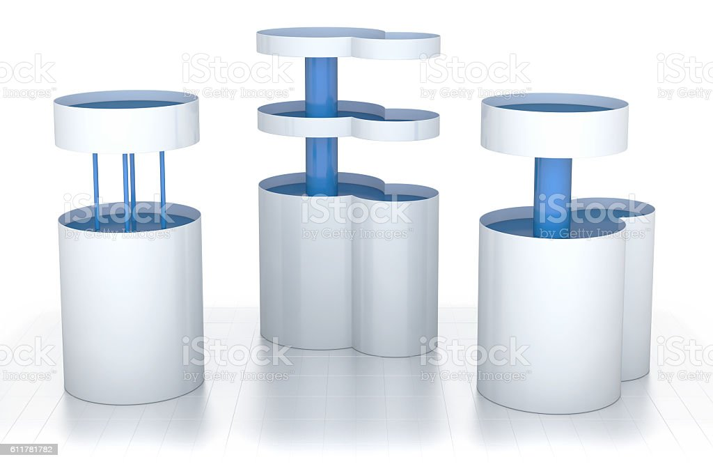Cabinets with shelves for displaying goods in supermarkets stock photo