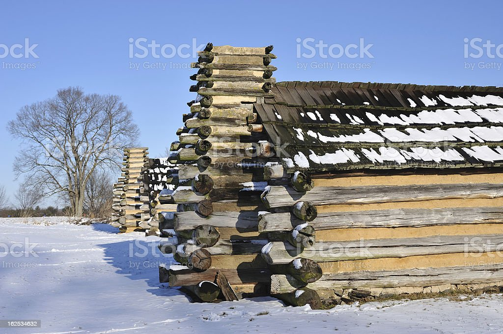 Cabins at Valley Forge National Park royalty-free stock photo