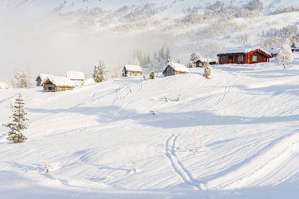 cabins next to stryn ski centre (norway) – Foto