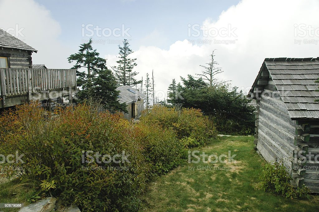 Cabins on the Hill stock photo