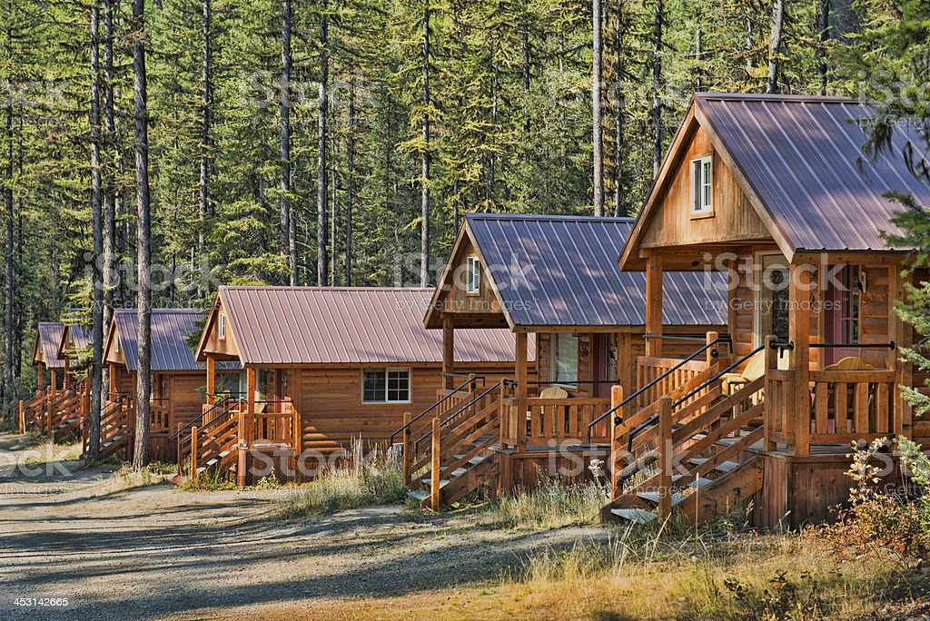 Cabins stock photo