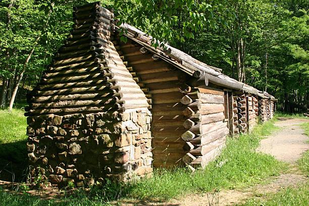 Cabins stock photo