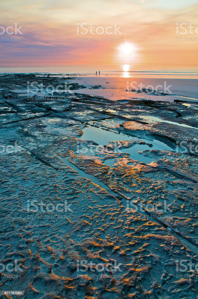 Cable Beach Rock Sunset stock photo