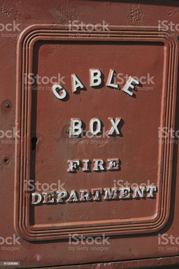 Cable box stock photo