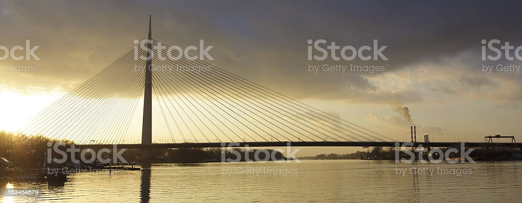 cable bridge Ada stock photo