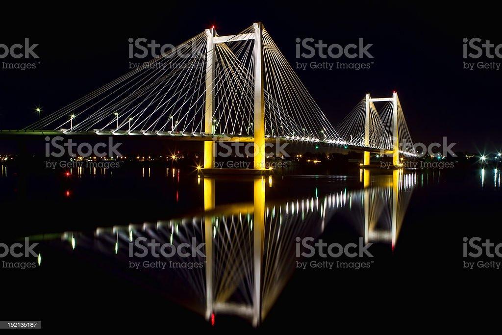 Cable Bridge royalty-free stock photo