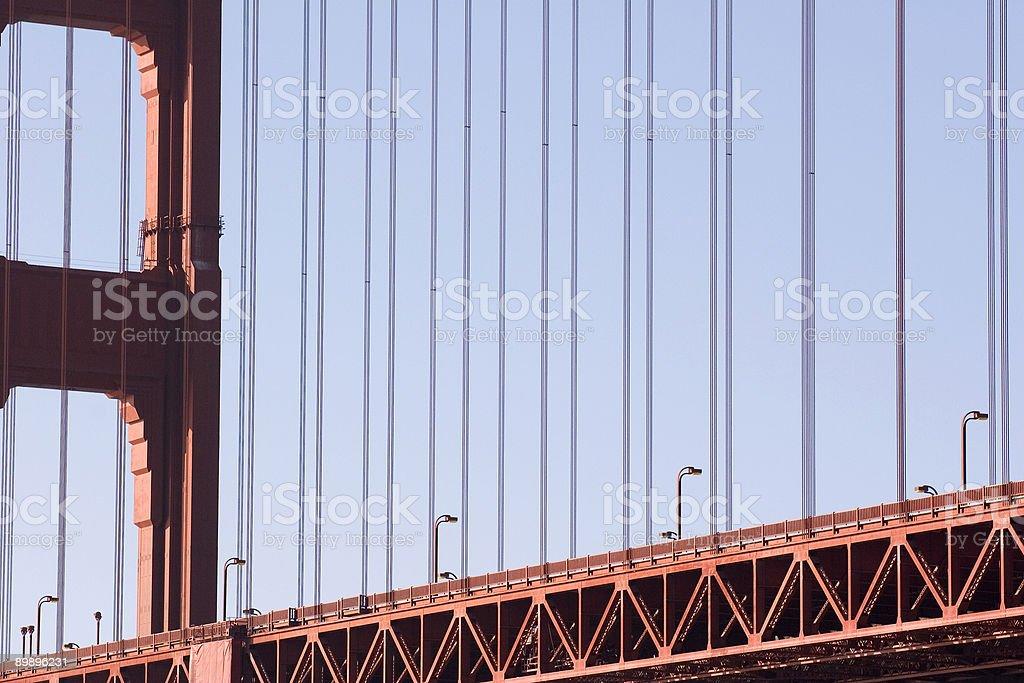 Cable-Brücke Lizenzfreies stock-foto