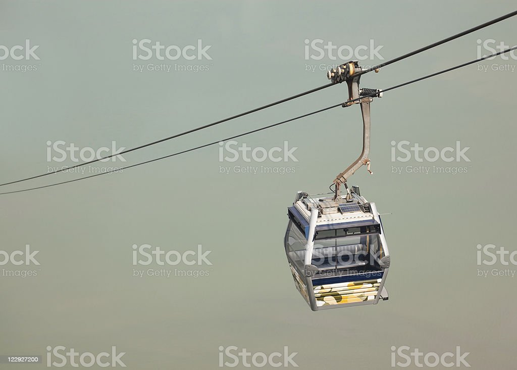 Cable car against the sea royalty-free stock photo