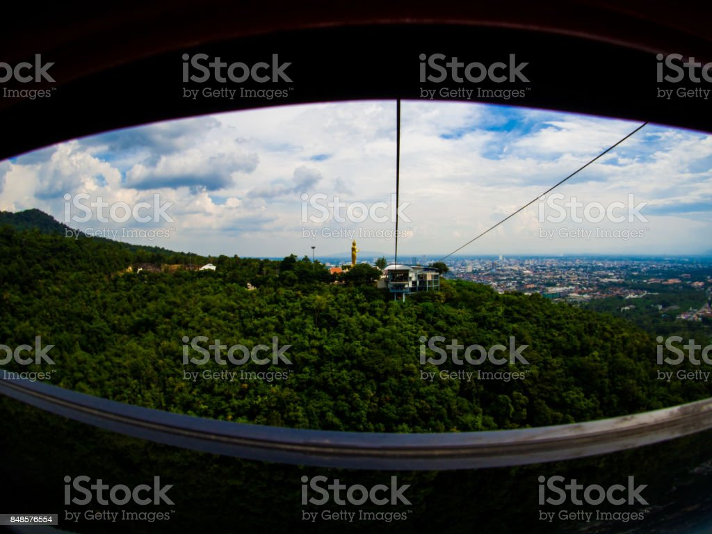 Cable Car at Hatyai Park , Hat Yai , Thailand. stock photo
