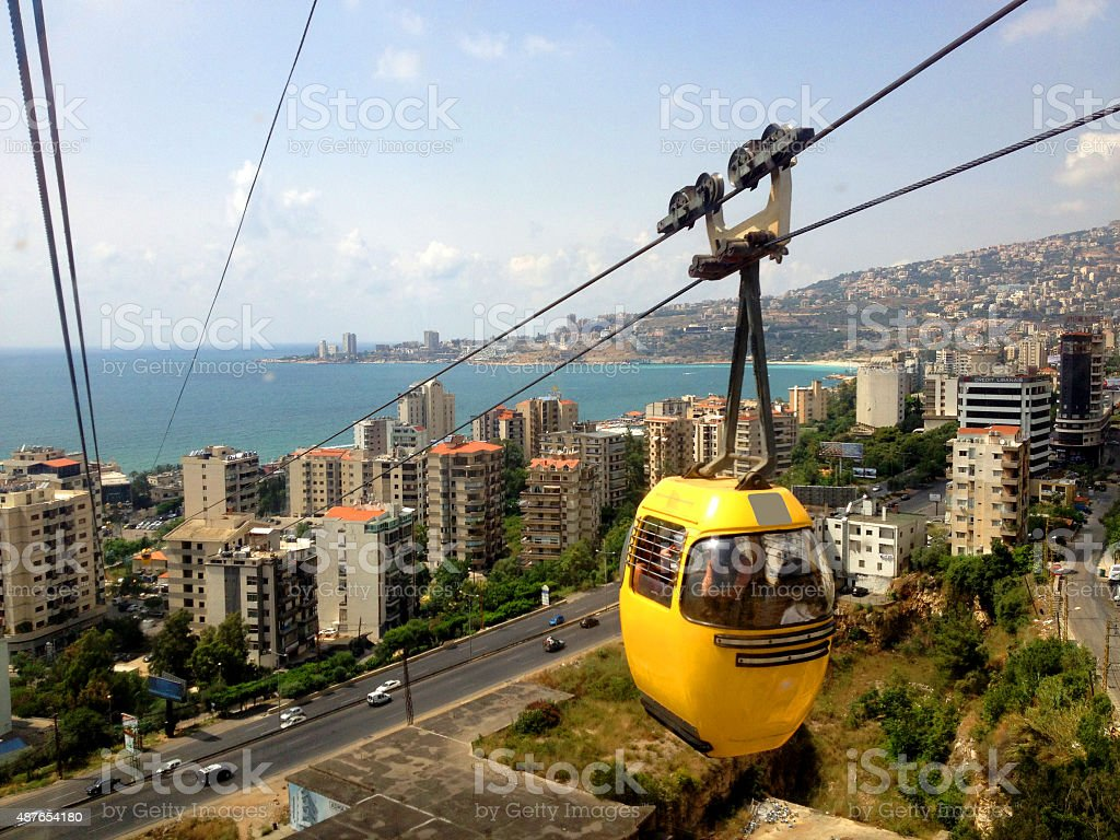 Cable car at Jounieh, Lebanon stock photo
