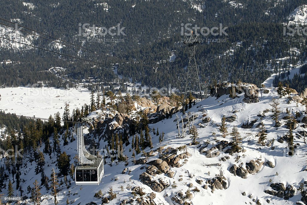 Cable Car at Squaw Valley stock photo