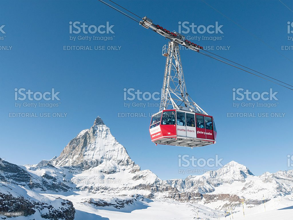 Cable Car at Zermatt stock photo