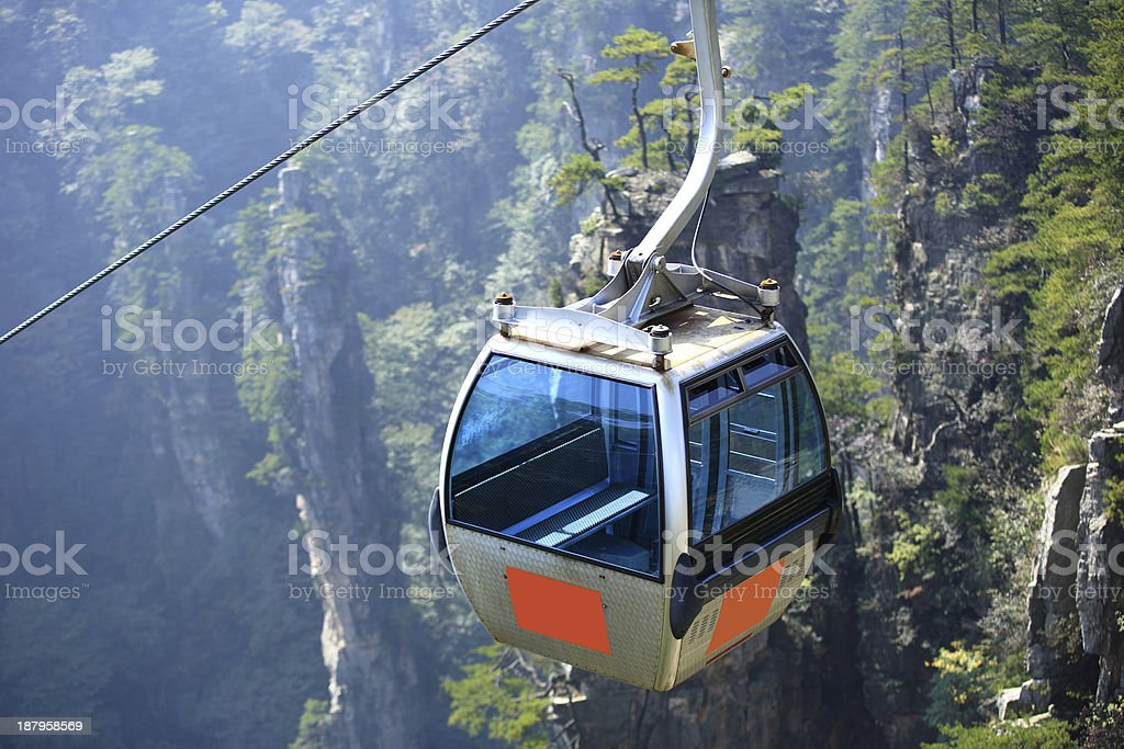 cable car at zhangjiajie national forest park,china royalty-free stock photo