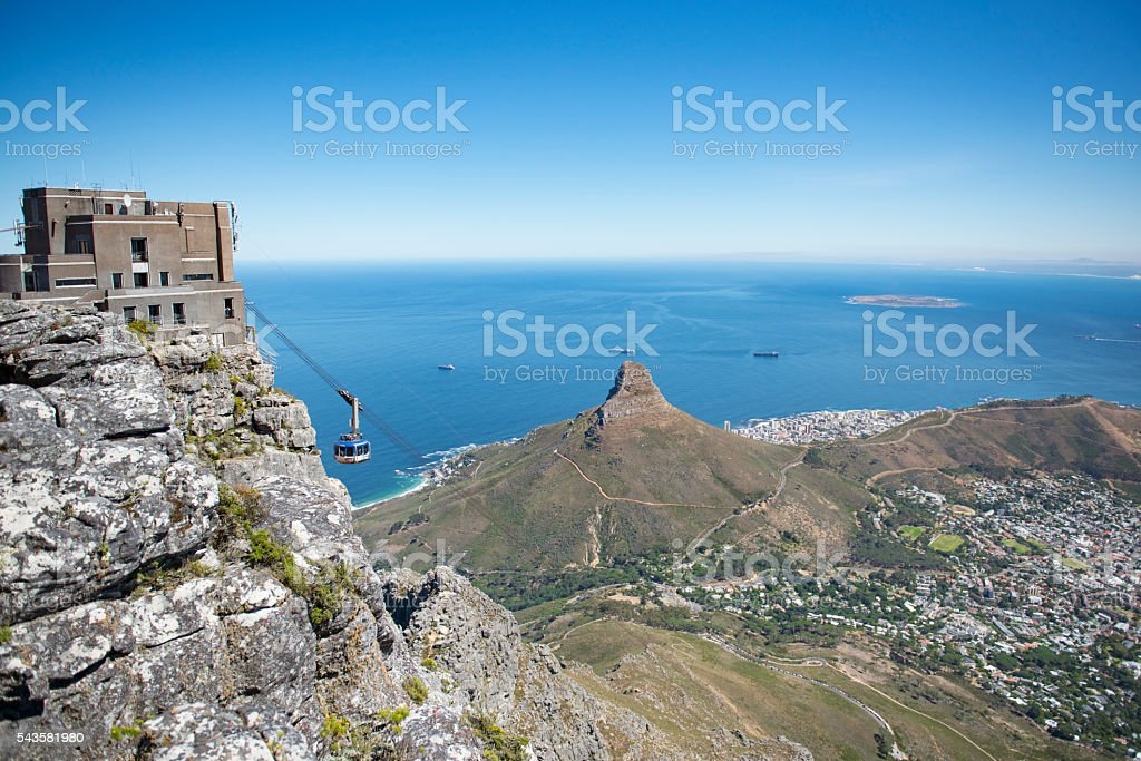 Cable Car Cape Town stock photo